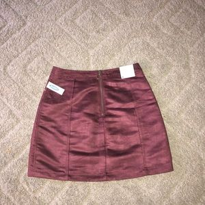 NWT old navy suede mini skirt size 4